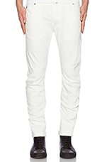 Arc 3D Slim Comfort Inza White Denim in 3D Aged
