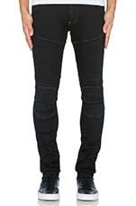 5620 3D Super Slim Slander Black Denim in Dark Aged