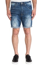 A Crotch Watton Denim Short in Medium Aged Destroy