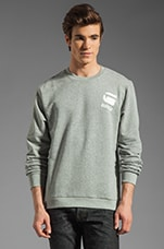 Carvell Logo Sweatshirt in Grey Heather