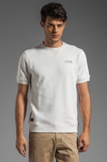 Ridge Short Sleeve Sweatshirt in Light Chalk Heather