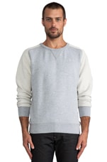 Ace Saddler Sweatshirt en Gris Chiné