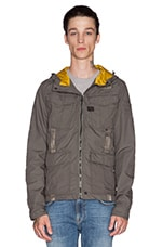 Recolite Hooded Overshirt in Raw Grey