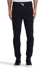 Navy Raw Sweatpant in Mazarine Blue