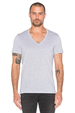 2 Pack V-Neck Tees en Gris Chiné