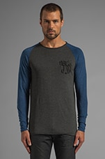 Fargo R T Long Sleeve Tee in Raven