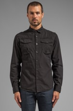Ernest Roll Up Shirt in Black