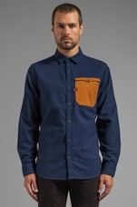 Hunter Utility Mixed Shirt in Rinsed