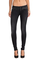 Lynn Skinny in Slander Black Super Stretch Dark Aged