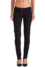 Lynn Zip Skinny Comfort Turner Black Denim Dark Aged Destroy