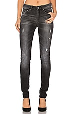 3301 High Rise Skinny in Medium Aged Restored