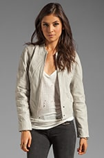 Olympia Leather Moto Jacket in Salt