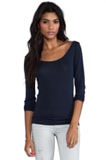 Raw Slim Long Sleeve Top in Japan Blue