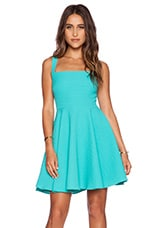 Aliz Skater Dress in Turquoise