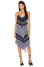 Greylin Murakell Silk Hanky Dress in Navy