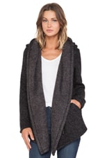 Lexington Oversized Hoodie Jacket in Black