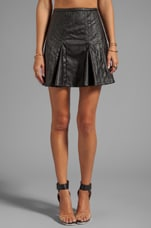 Monroe Vegan Leather Skirt in Black