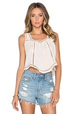 Charlotte Cropped Top in Ivory