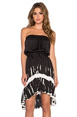 ROBE COURTE STRAPLESS HI-LOW
