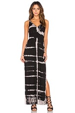 ROBE MAXI HIGH SIDE SLITS TWISTED STRAP