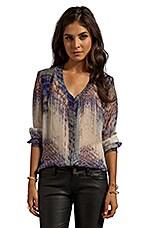 Annunaki Long Sleeve Button Down Shirt in Violet