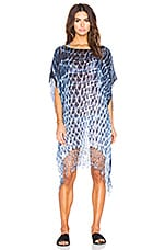 Tie Dye Easy Poncho en Midnight