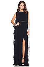 Studded Belt Caftan en Black & Buff Linear Fade Out