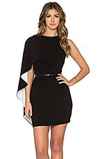 ROBE COURTE ASYMMETRICAL SLEEVE