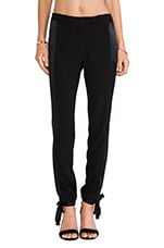 Ankle Tie Pants in Black