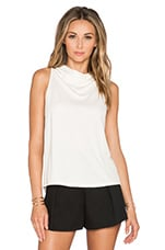 Back Drape Mockneck Top en Bone