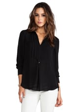 Silk Tuxedo Shirt in Black
