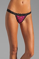 Hearts G-String w/ Bow in Black/Red