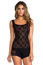 Signature Lace Unlined Cami en Noir