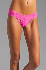 Vixen Low Rise Thong in Passionate Pink