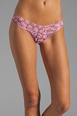 x HELLO KITTY Petite Low Rise Thong in Flamingo