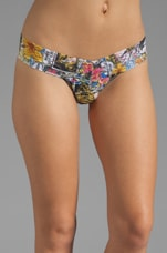 Comic Strip Low Rise Thong in Multi