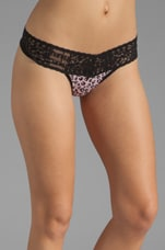 Pink Kitten Low Rise Thong in Pink/Black
