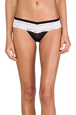 Sheer Indulgence Low Rise Thong in Black & White