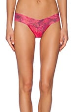 Red Rose Low Rise Thong in Red