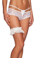 Lady Catherine Boxed Leg Garter in Light Ivory