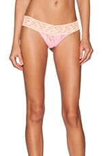 Low Rise Thong in Cherry Blossom & Peach Smoothie