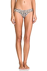 Leopard Noveau Low Rise Thong en Marron
