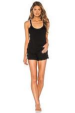 Hanky Panky Sleepwear Cami & Short Set in Black