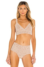 Signature Lace Crossover Bralette in Chai