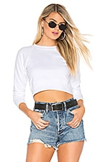 x karla The Crop Sweatshirt in White
