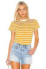 x karla The Stripe Crew in Mustard & Off White
