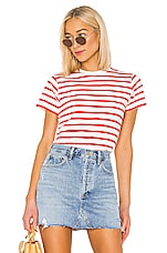 x karla The Stripe Crew in Off White & Red