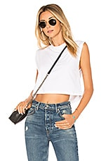 Hanes x Karla The Sleeveless Crop Tank in White