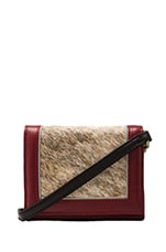 Mini Calf Hair Clutch in Crimson