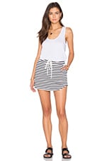 ROBE COURTE SOLID & STRIPE TENNIS